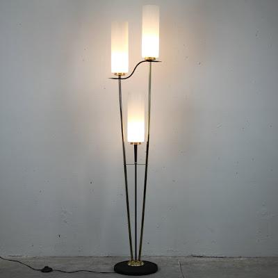 lámpara de pie de los años 50 francesa