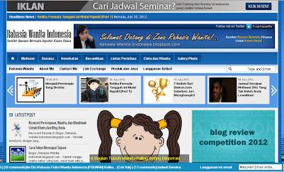 Tampilan Depan Blog Rahasia Wanita Terbaru