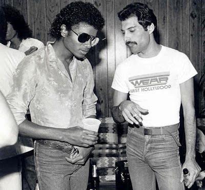 Michael Jackson y Freddie Mercury en los ochenta