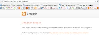 blog yang sudah dihapus tidak bisa digunakan kembali