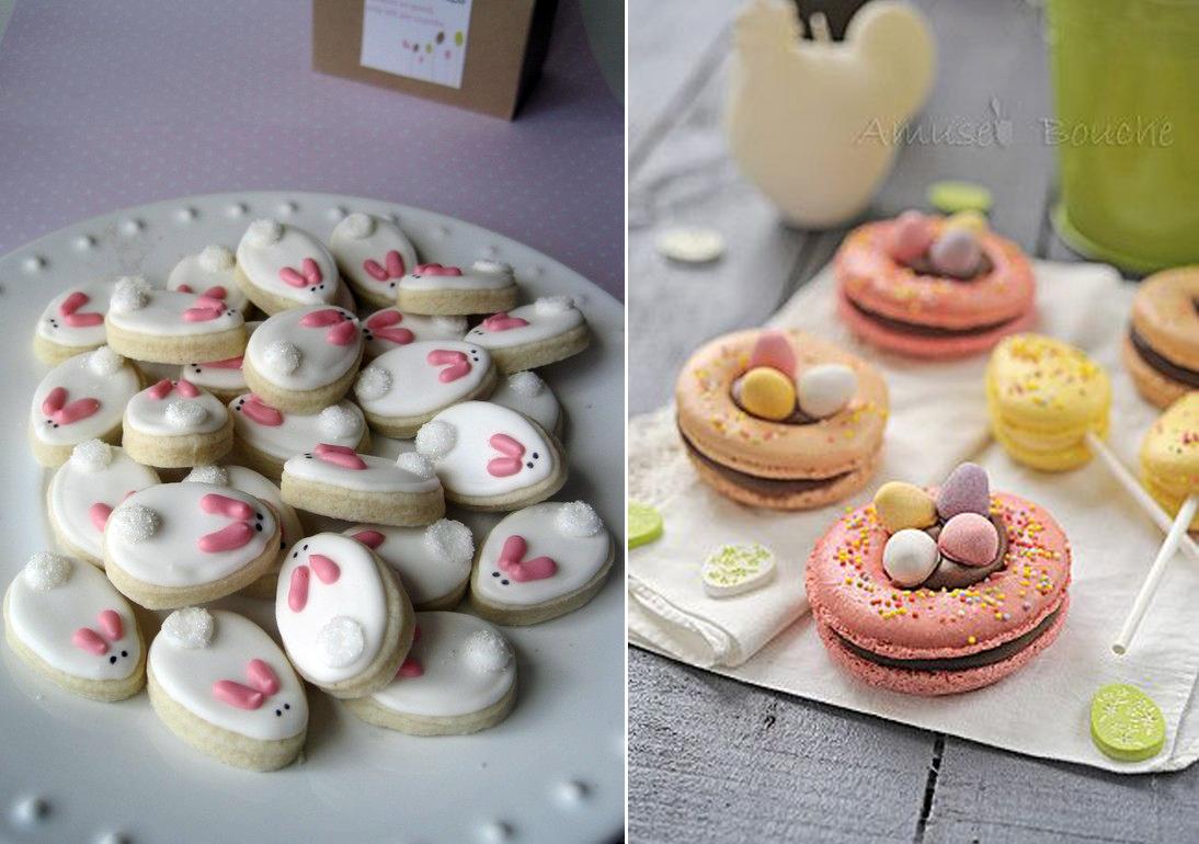 biscuits en forme de lapins , décoré avec un glaçage royal, recette ...