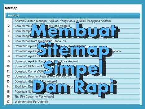 Cara Mudah Membuat Sitemap Simpel Dan Rapi