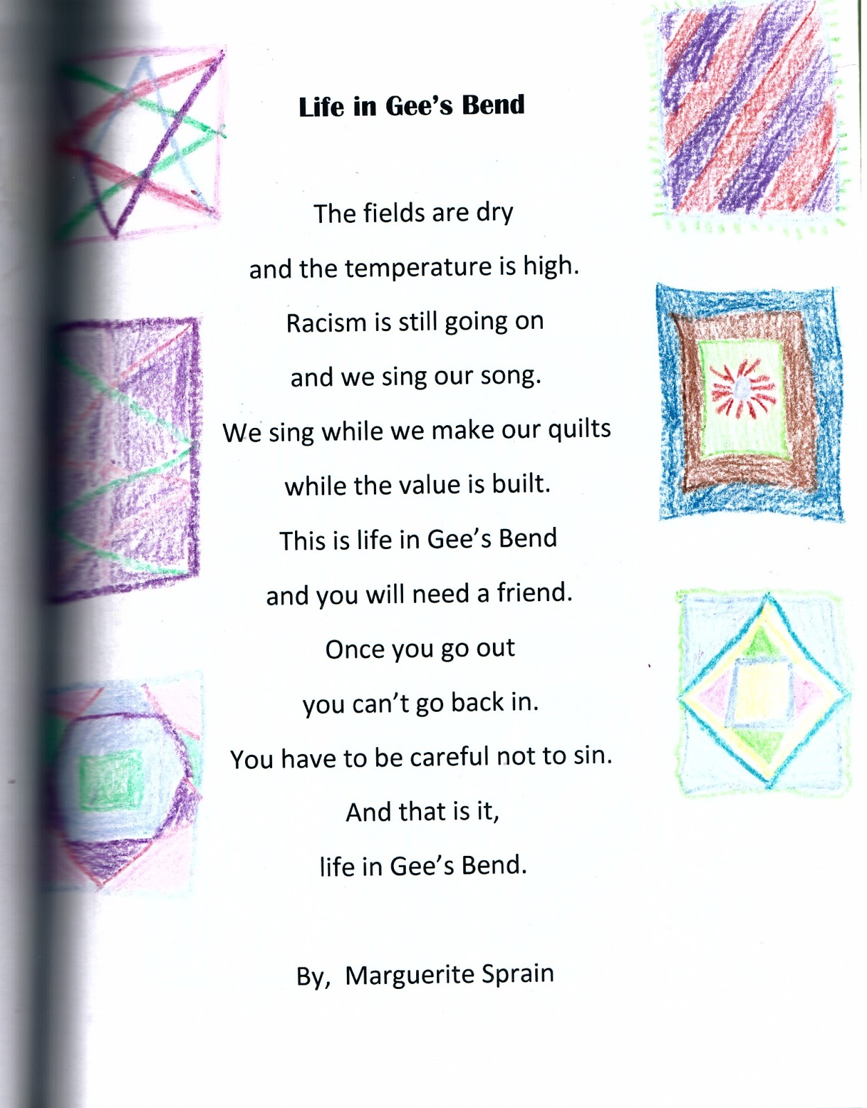 Live Your Poem...: GEE'S BEND POEMS