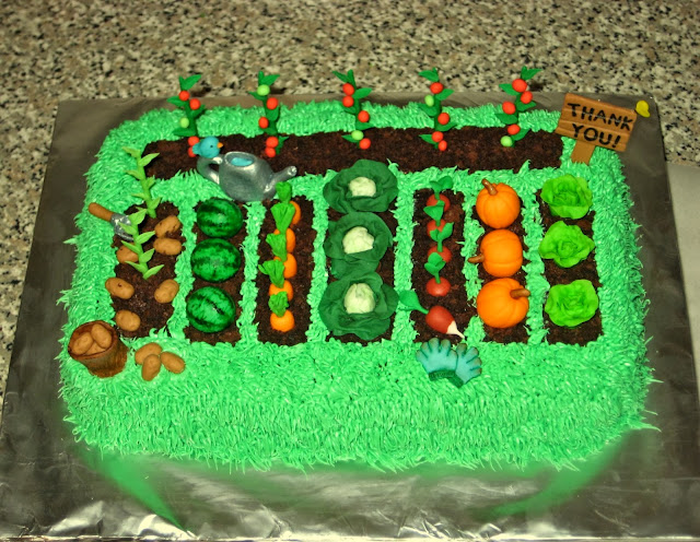 Teacher Appreciation Garden Cake 4