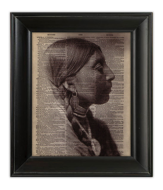 dictionary art print mixed media etsy indian woman braids beautiful