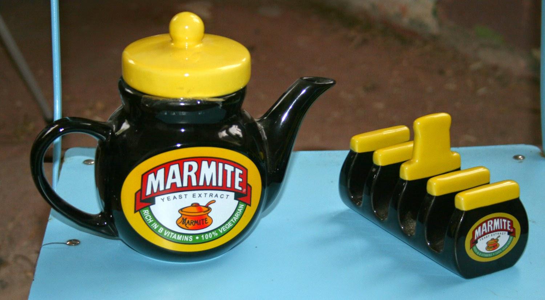 A Marmite Teapot and Toast Rack