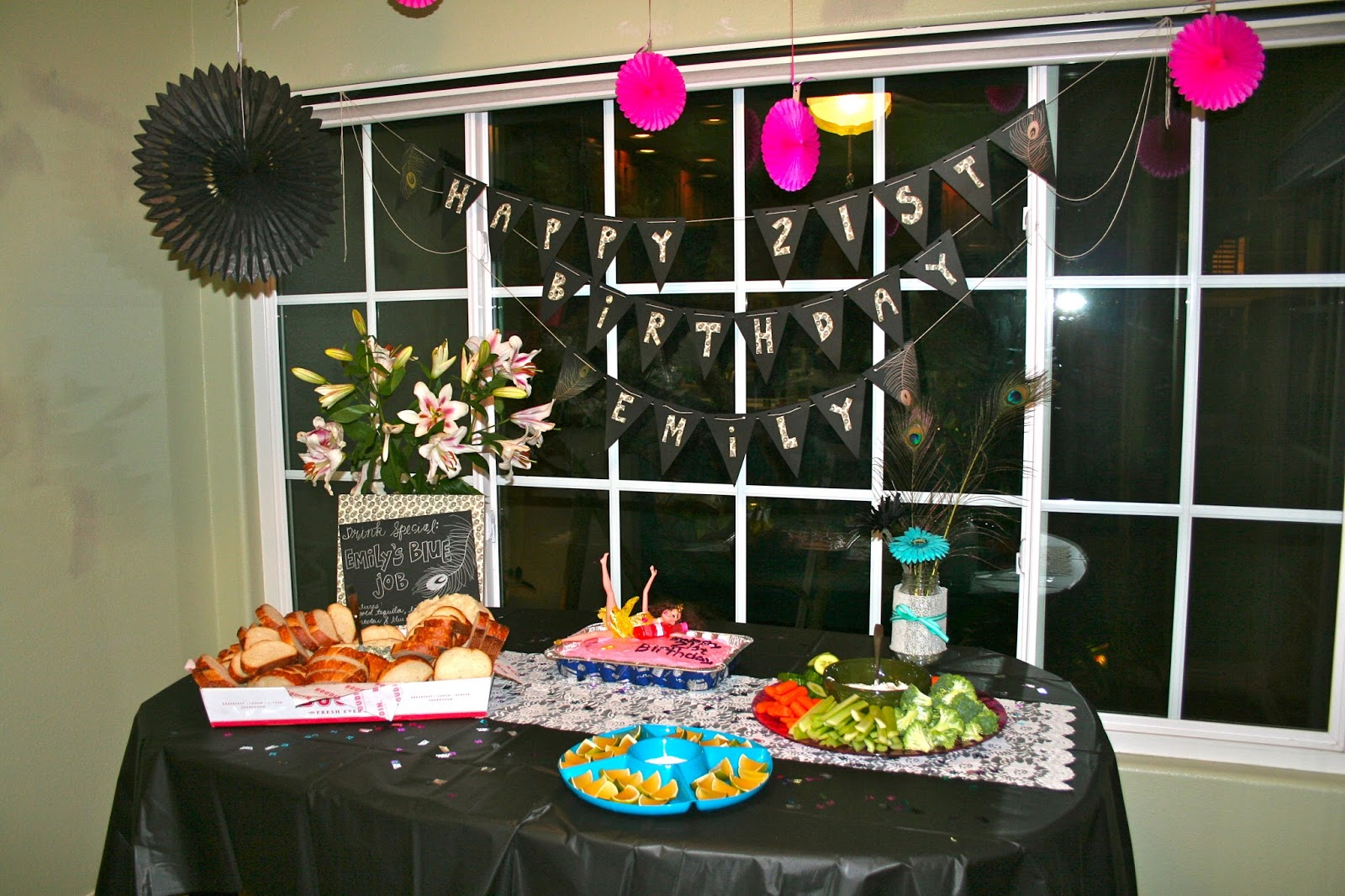 Champagne taste shoestring budget 21st birthday party for 21st bday decoration ideas