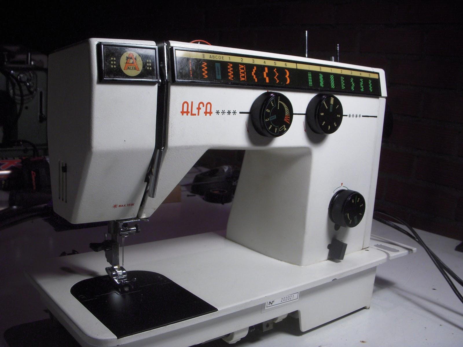 Maquinas de Coser: Ajuste de máquina de coser Alfa domestica