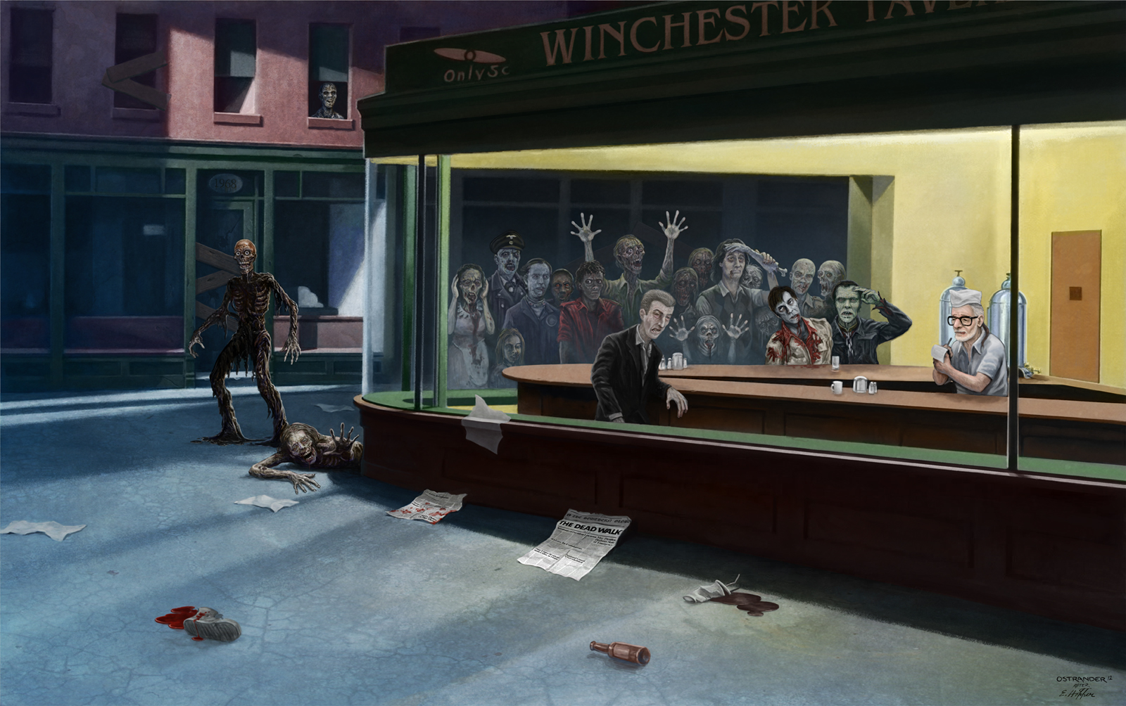Geek Art Gallery: Fresh Take: Nighthawks