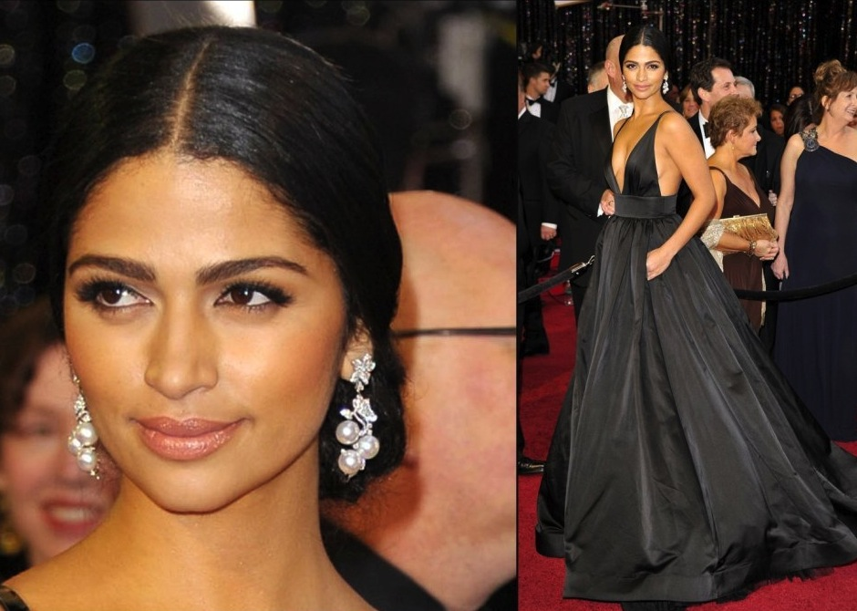 camila alves hair color. camila alves hair oscars 2011.