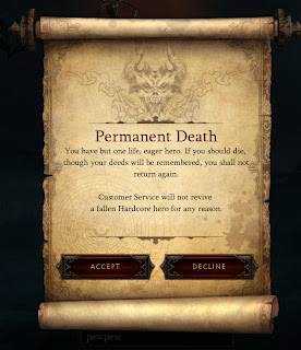 Diablo 3 Hardcore Deeds Valor Remember Die