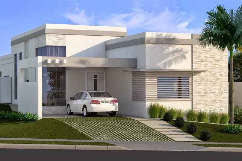 Plantas de casas modernas terreas for Modelo de fachadas para casas modernas
