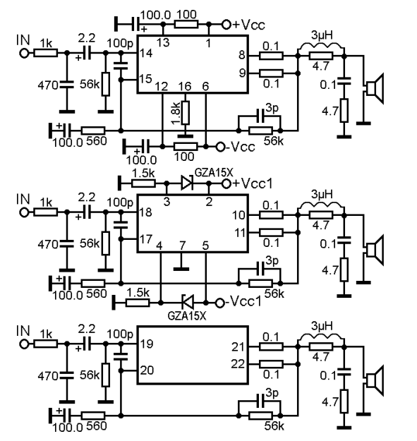 8268 ta audio power amplifier schematic diagram