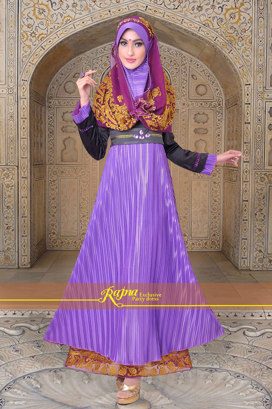 Model Baju Gamis Pesta Terbaru 2016