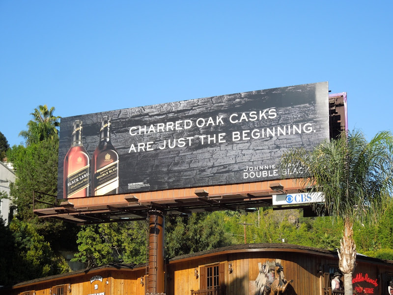 Charred Oak casks Walker Double Black billboard