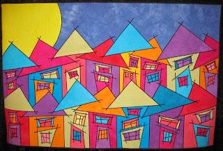"""Tutti Frutti Village"" by Susan Bleiweiss"