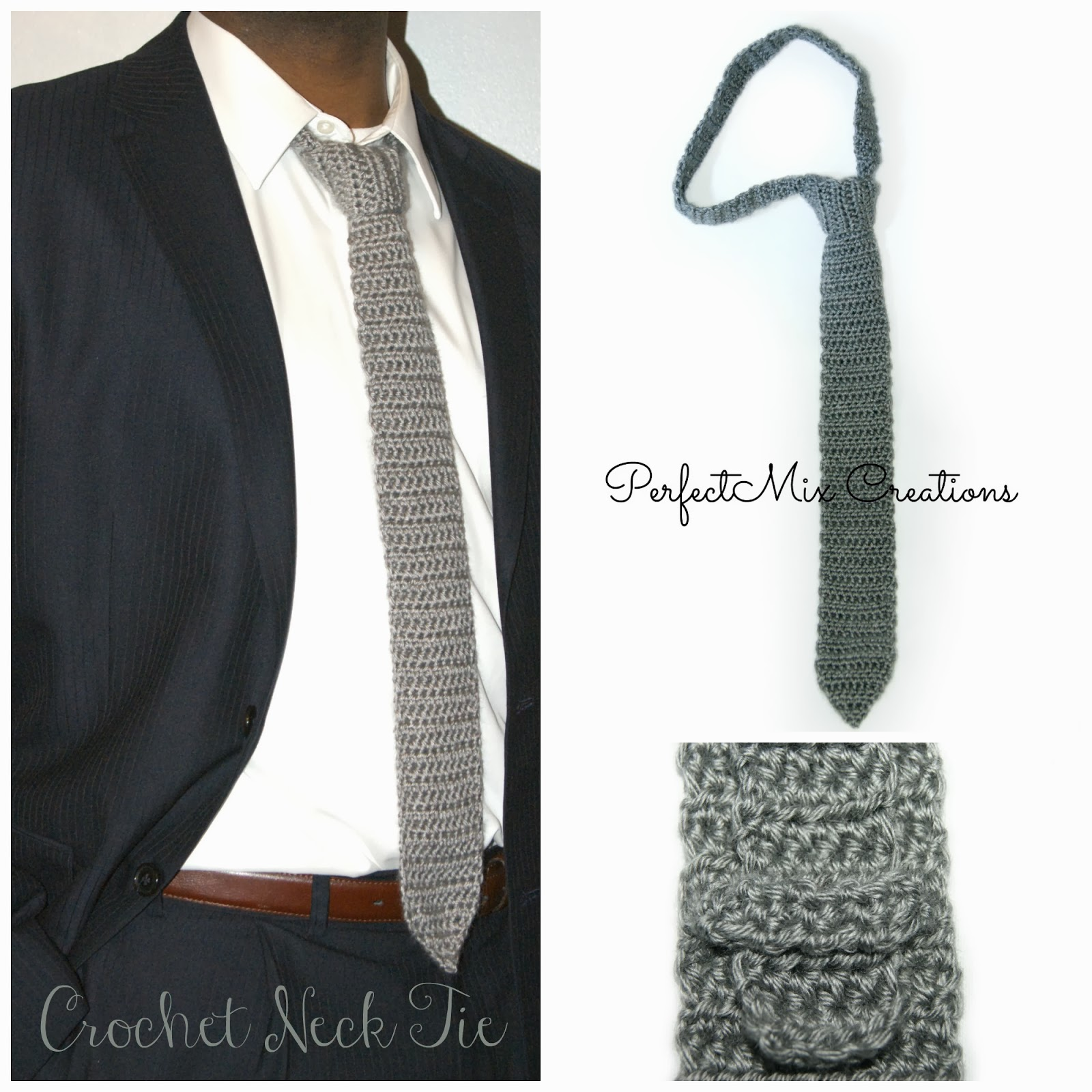 Mixin It Up With Daperfectmix Crochet Neck Tie Pattern