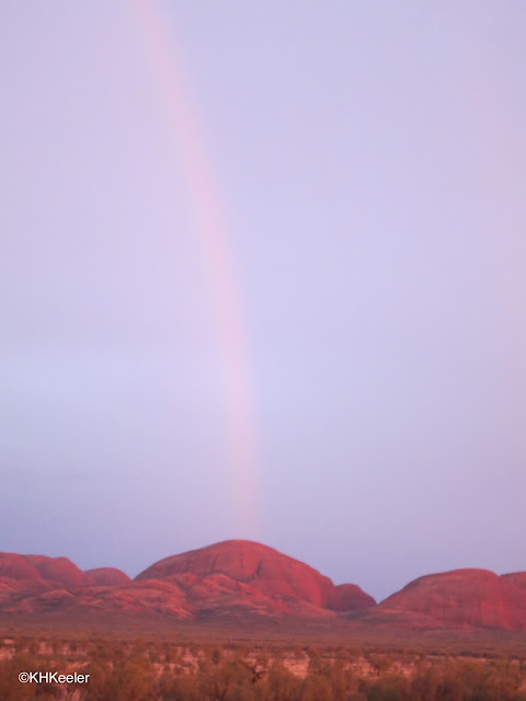 rainbow over Kata Tjuta