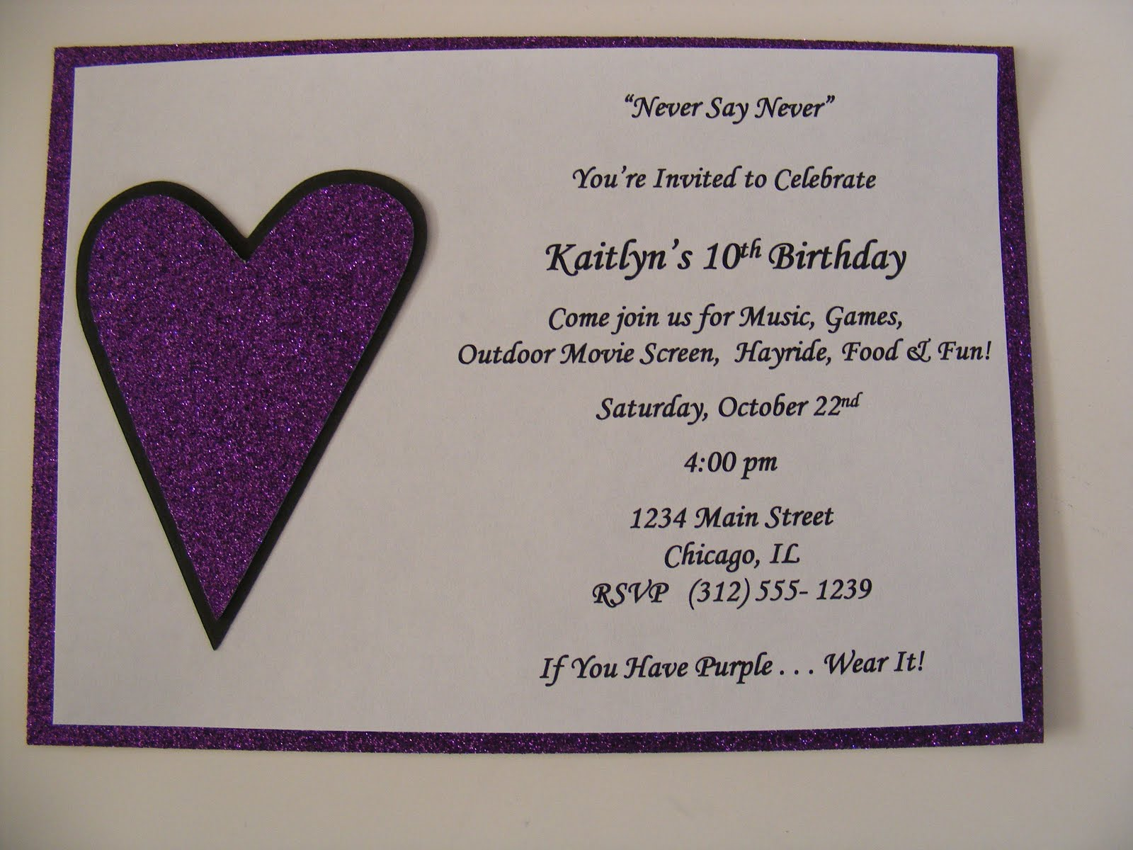 Justin bieber scrapbook ideas - Justin Bieber Invitations Birthday Party Sweet Sixteen