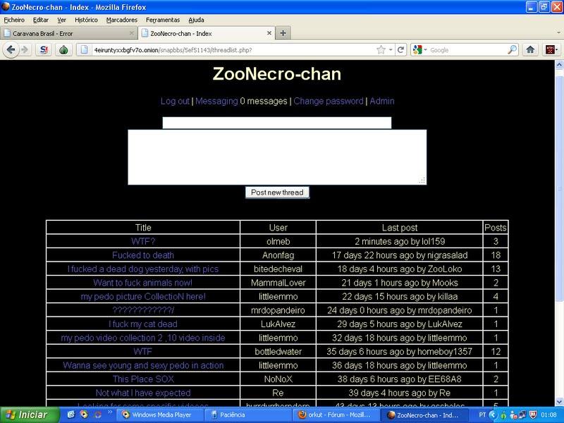Links da Deep Web (Outubro de 2013).