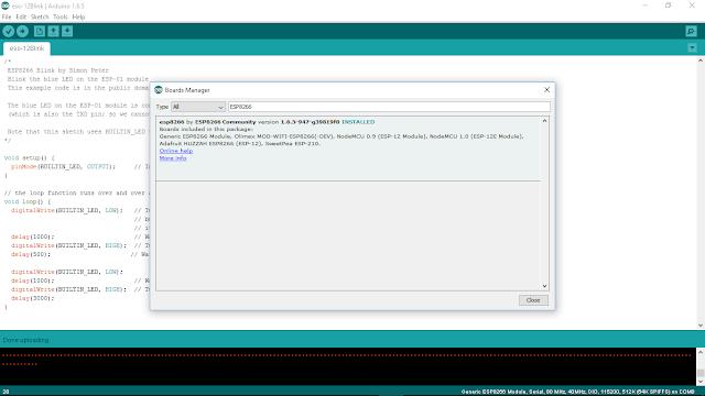 Arduino ide esp8266 board download