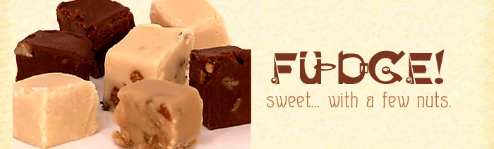 Fudge, sweet with a few nuts