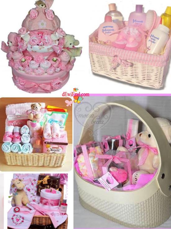 ide bingkisan bayi,ide parcel bayi merah,ide parcel bayi biru pink