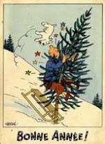 "Cartes Tintin ""Neige"""