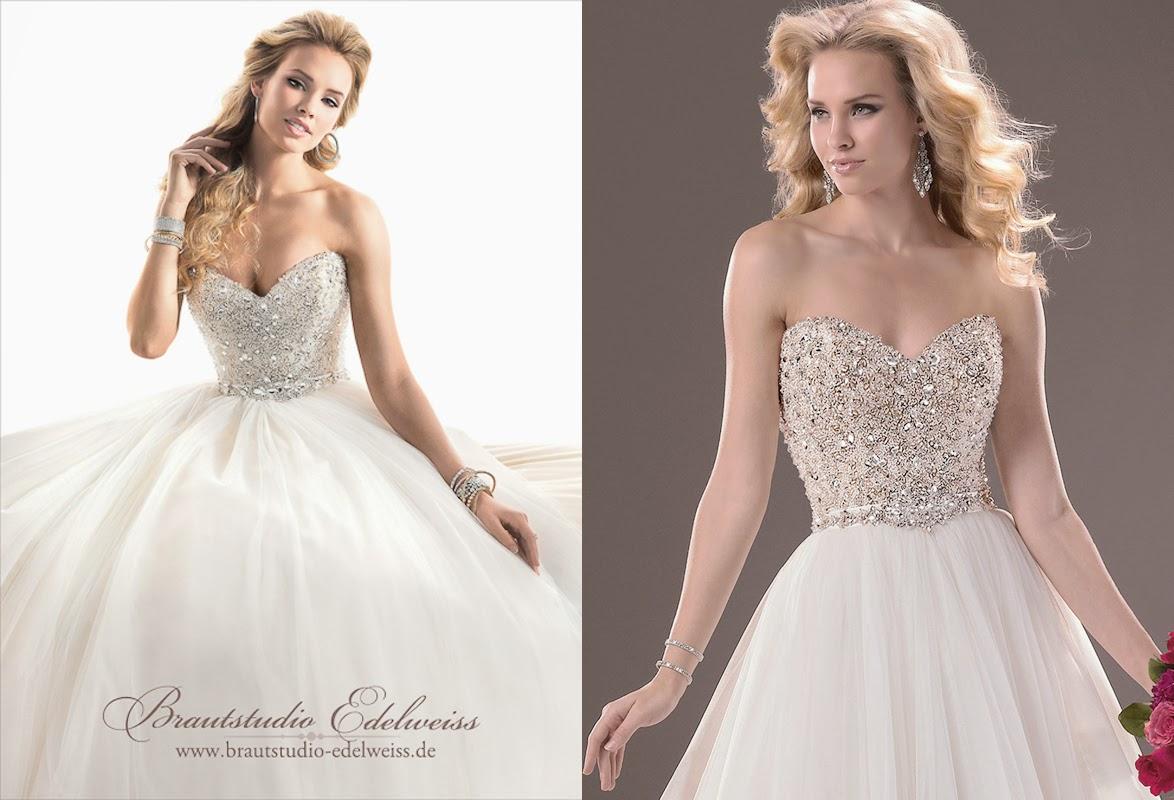Brautkleider, Hochzeitskleider aus Tüll. Prinzessinen Brautkleid ...