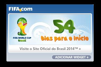 Widget contagem regressiva para Copa de 2014 no Brasil