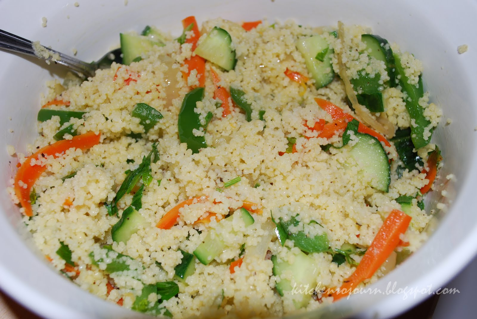 Kitchen Sojourn: Mediterranean Couscous Salad