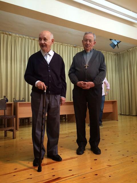 Pepe J. Escalona y D. Antonio algora , en Ciudad Real