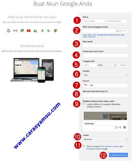 cara membuat email baru di gmail (google mail) gratis