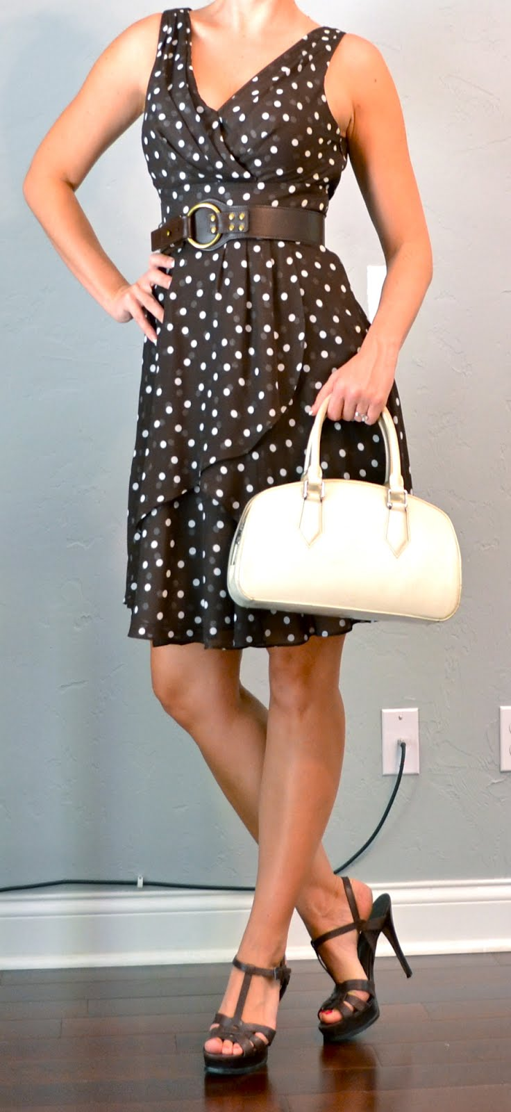 Outfit Posts Outfit Post Brown Polka Dot Pretty Woman Dress