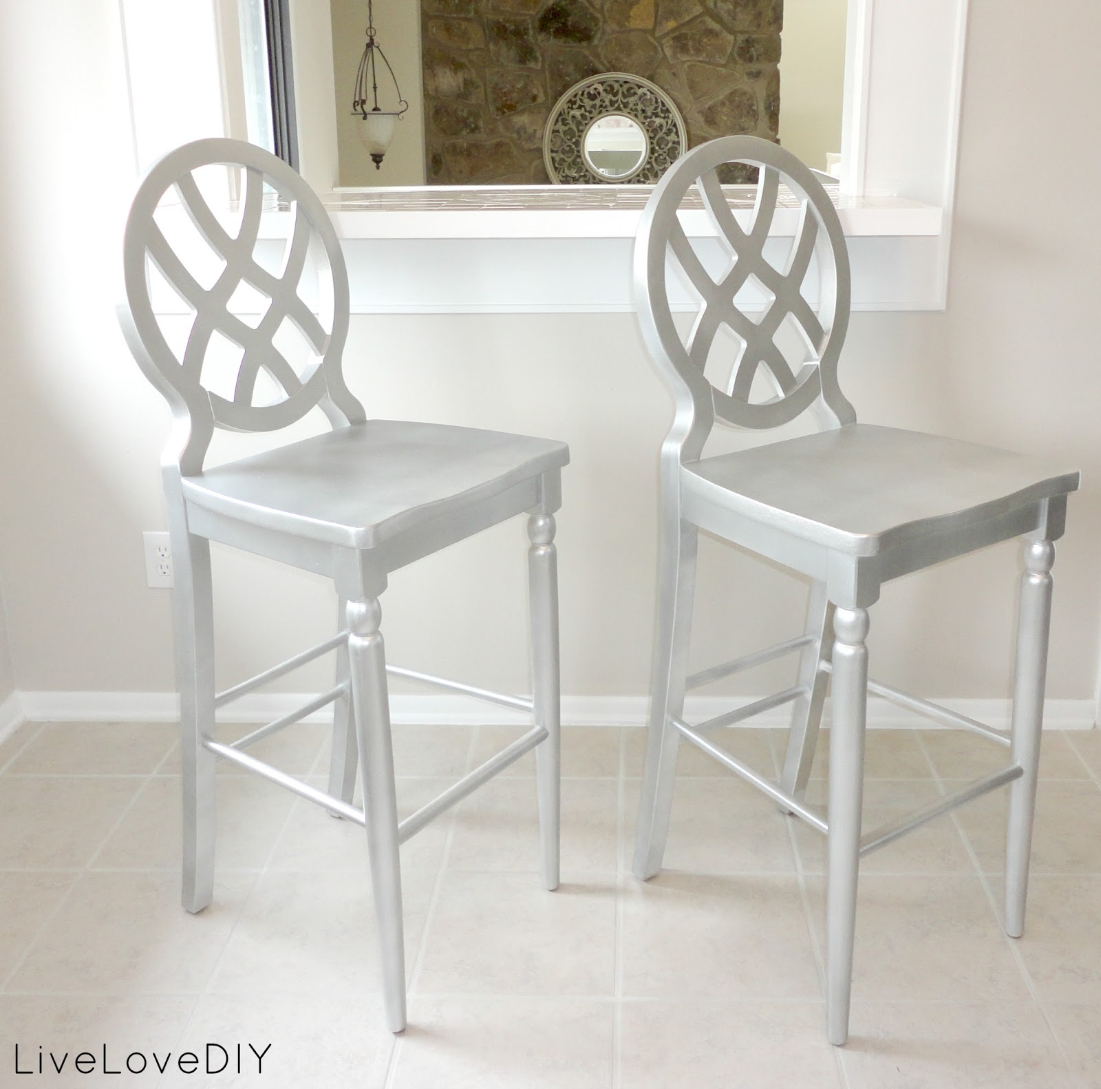 Livelovediy creative ways to update your kitchen using paint for Painted kitchen chairs