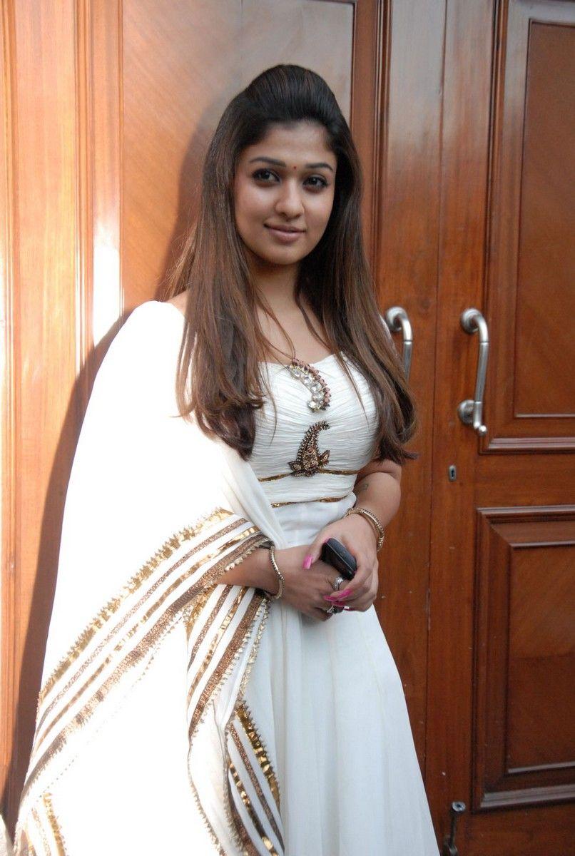 MY COUNTRY ACTRESS: Nayanthara in White Churidar Stills at ...
