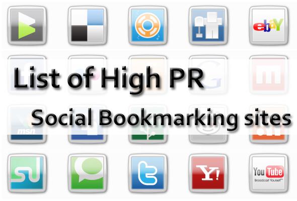 Top High PR DoFollow Social Bookmarking Sites
