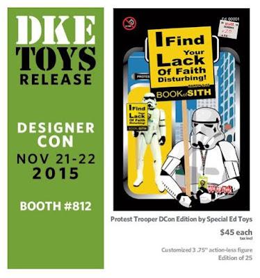 Designer Con 2015 Edition Protest Trooper Bootleg Star Wars Figure by Special Ed Toys
