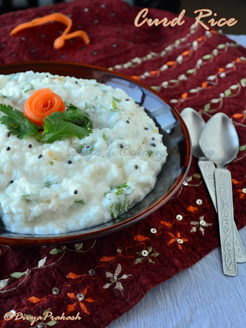 curd rice recipe, Thayir sadam recipe