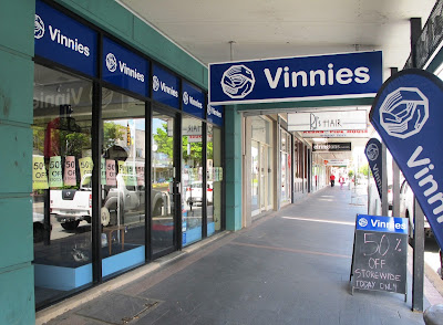 Outside of Vinnies' Queanbeyan op shop.