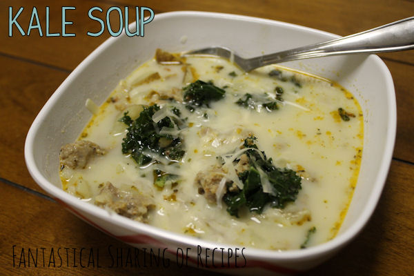 Kale Soup | A very delicious soup with potatoes and sausage...and KALE! www.fantasticalsharing.com