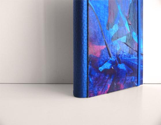 """Cuaderno tamaño bolsillo Kinm Bernal, Kinmcuadernos, Cuaderno A6 """"Océano azul"""" """"Blue Ocean"""" (tamaño bolsillo) Hecho a mano 100% / 15x 21cm / 140 pp papel blanco 100gr. /  Tapa dura con pintura original de Kinm Bernal / Pieza única"""