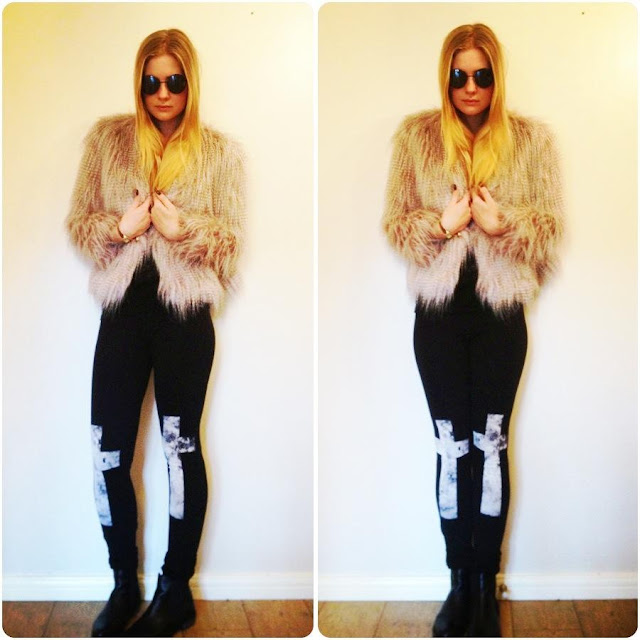 fashionfake fur coat