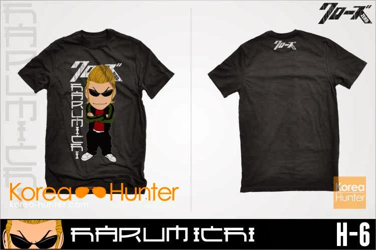 korea hunter jual murah T-Shirt Crows Zero Harumichi Chibi kaos