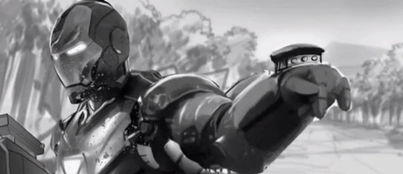 Iron Man Concept Action Scene