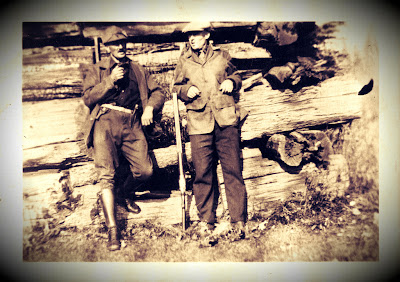 Vintage photo of hunters in Wisconsin Dells
