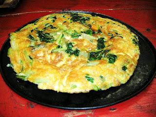 Receta de tortilla con vegetales