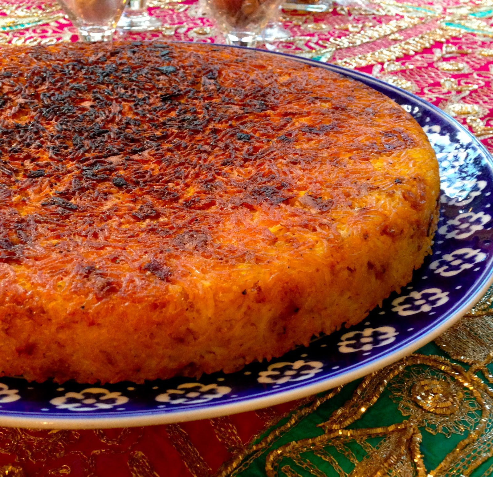 Livin life like a veganboss persian new year and a vegan persian new year and a vegan tahcheen savory saffron rice cake recipe forumfinder Images