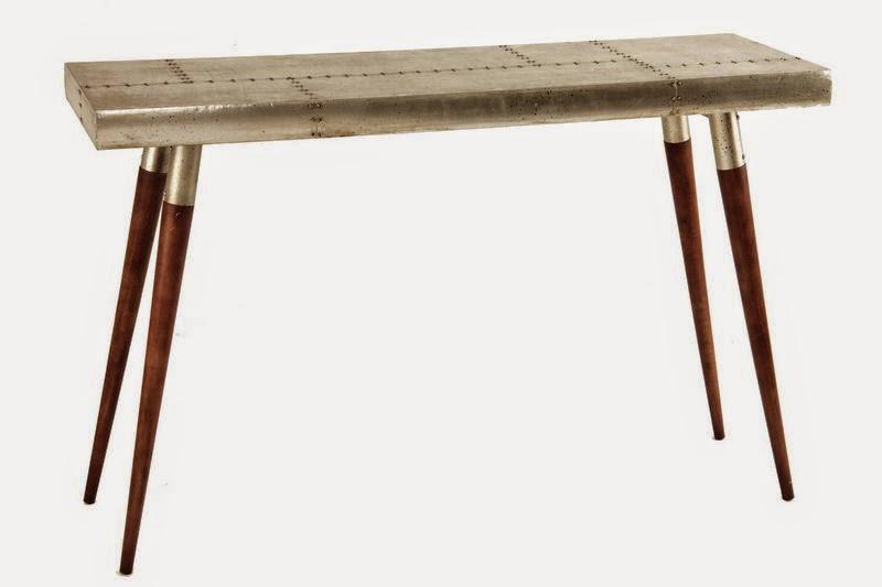 Mueble recibidor metalico
