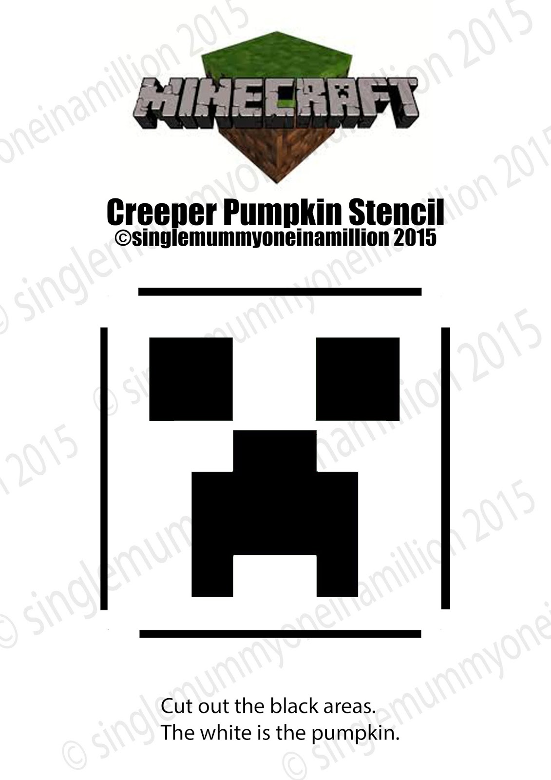 Single mummy one in a million creeper minecraft pumpkin